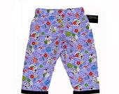 On SALE 60% OFF Lucky Cat - Harajuku Clothing - Japanese Clothing - Purple Pants - Asian Clothing - Girls Pants - Toddler Pants - 2T - 4T -