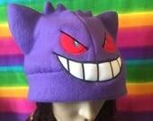Pokemon Gengar Fleece Cap Hat Beanie