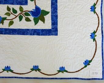 Design unico di stella viola imperiale patchwork quilt finito for Layout di seminterrato finito