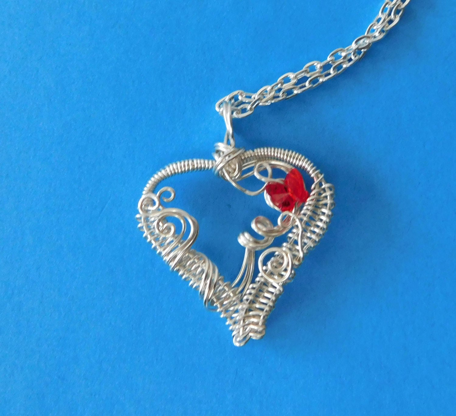 Heart Necklace Jewelry Gift for Wife Girlfriend Pendant