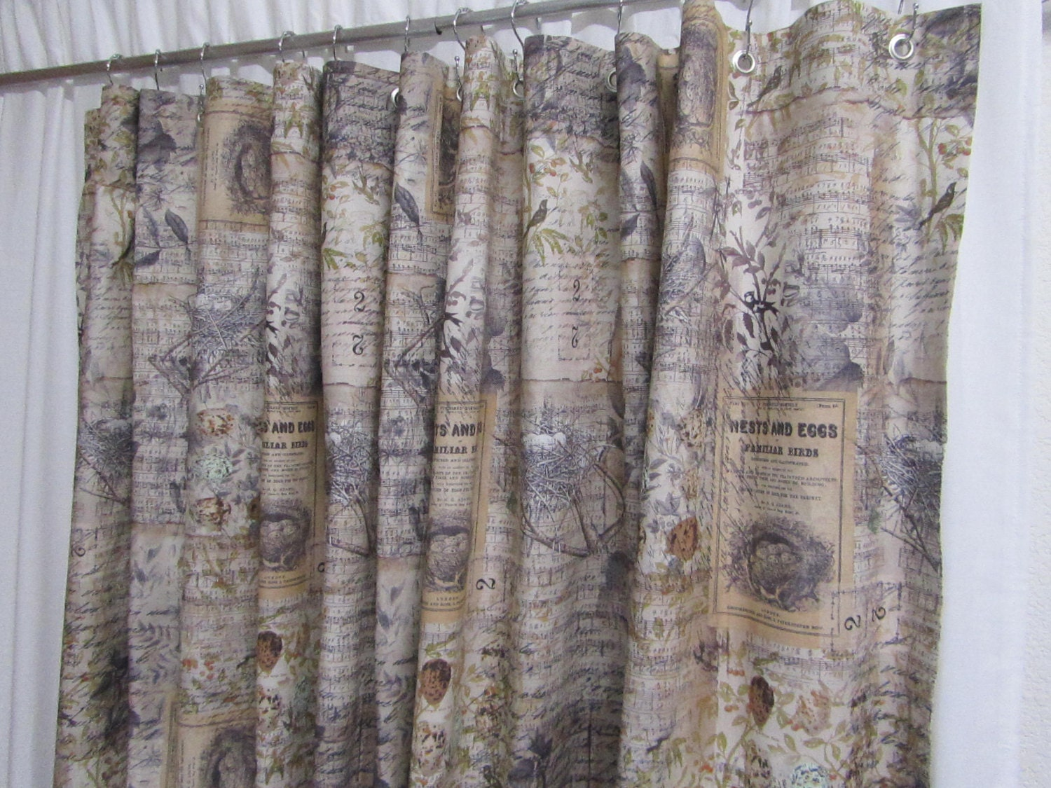 Farmhouse Shower Curtain Rustic Shower Curtain Bird Home