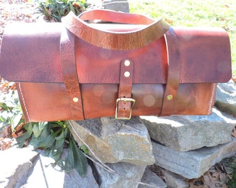 Keystone Tool Bag #2 / Mechanics Bag/ Water Buffalo Bag / Handcrafted / Leather Tote / Leather Bag / Minimalist Leather carrier