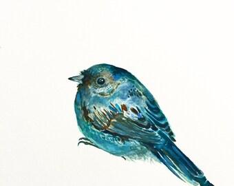 """Bird Watercolor Painting, Original Art, Junco Bird 9""""x12"""""""
