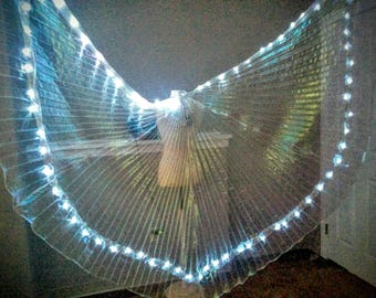 CUSTOM Angel LED light up glowing dance wings *please read item details