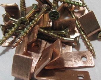 Copper Wall Hooks. Copper Kitchen Hooks. Copper Wall Fixtures. SMALL Copper Wall Hooks. Cabinet Hooks.
