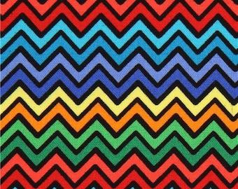 206170 cute colorful zig zag fabric Hello Foxy Blank Quilting USA