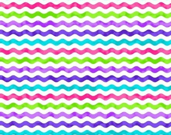 211104 colorful fabric pink purple squiggle by Northcott Topsy Turvy