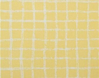 213623 yellow Michael Miller fabric white grid design Pretty Grid