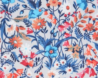 214423 light grey Robert Kaufman colorful flower fabric London Calling 7