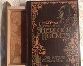 Complete Sherlock Holmes Book Jewelry Box - Sherlock Holmes Book Jewelry Box - Sherlock Holmes -  Wooden Jewelry Box  -  Sherlock Holmes Box
