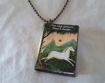 Mini-Book Pendant - The Last Unicorn
