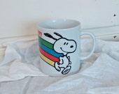 Retro Snoopy Rainbow Coffee Mug