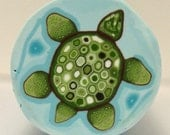 Polymer Clay Cane Green Turtle