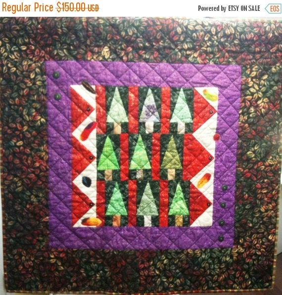 Black History Enchanted Forest Art Quilt
