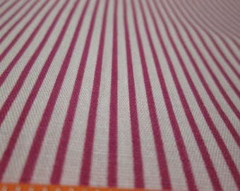 Dark Red Striped Fabric Red White Striped Fabric Striped Quilt Fabric Red Craft Fabric  Sold by the Yard   F1079