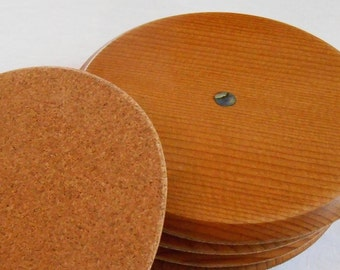 Wood Coasters set of 6 with Abalone shell Inlay, Sitca Spruce premium wooden Drink Coasters
