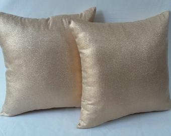 Rose gold pillow.Rose gold decorative throw pillow cover. metallic rose gold      throw pillow.Festive pillow.Wedding decor.   18inch