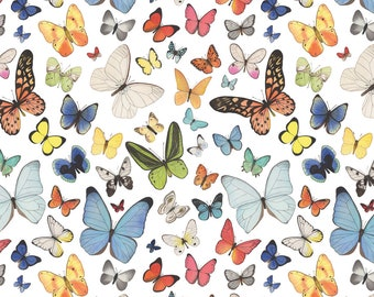 Watercolor Butterfly Bonanza Fabric - Watercolor Butterflies By Mygiantstrawberry - Watercolor Cotton Fabric By The Yard With Spoonflower
