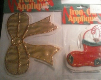 Iron On Appliques Christmas
