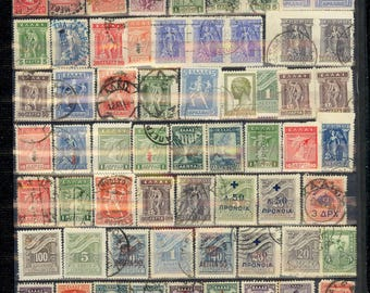 Large Worldwide Stamp Singles Used and Mint 12 Scans of Stock Pages Antique and Vintage Lot P24