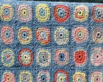 Circles Crochet Afghan/Blanket  - PDF CROCHET PATTERN