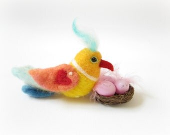 Bird,Needle Felted Bird,Bird Ornament