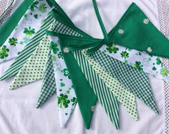 St Patricks Bunting, fabric banner, Garland, Bedroom Decor, Photo Prop, St Patricks Day