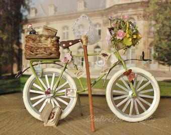 Butterfly Collector  Miniature 1/12 Scale Dollhouse Bicycle