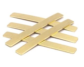 Raw Brass Bar, 10 Raw Brass Bracelet Stamping Blanks ( 8x80x1mm) Y171