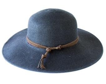 Wide Brimmed Straw Hat Sun Shade Hat SPF 50 Sunblock Floppy Beach Hat Western Style Travel Hat Straw Fedora Beach Hat Festival Sunhat