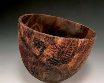 Handmade Home Decor - Wood Bowl - Black Walnut Wood - Rapture