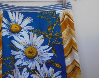 daisy...ladies A line skirt in vintage fabrics