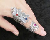 Fairy's Touch - Double Butterfly Filigree Armor Ring