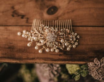 Bridal Hair Accessory, Wedding comb, Bridal comb, Rhinestone Hairpiece, Rhinestone and pearls
