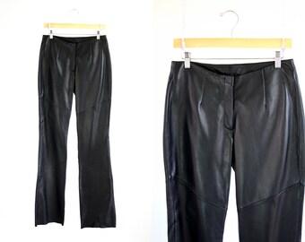 Vintage Woman's Black Leather Pants