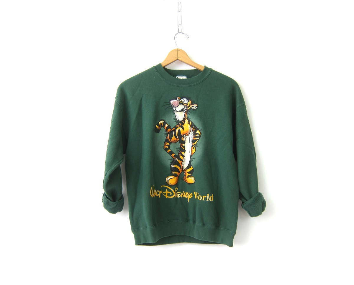 Tigger the Tiger sweatshirt Oversize Baggy sweater Green ...