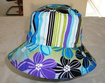 Reversible Bucket Hat - Adult Bucket Hat - Bucket Hat - Cotton Bucket Hat - Women's Hat - Sun Hat - Hawaiian Print Hat