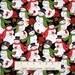 Christmas Fabric - Winter Bliss Packed Snowman on Black - Studio E YARD