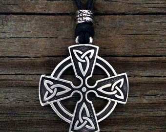 Open Celtic Cross Pewter Pendant
