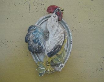Vintage Rooster Door Knocker