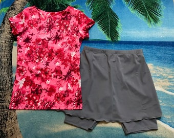 Girls size 12 modest 2 piece swim set (can be ordered in a different fabric for the top)