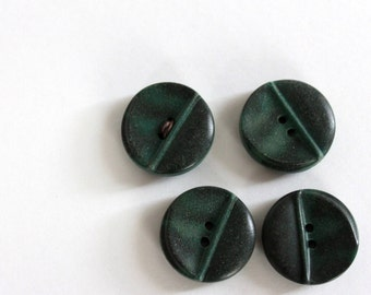 Mid size Mountain Green Marbled Celluloid Vintage Sweater or Coat Buttons (4)