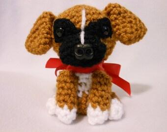 Boxer Crochet Dog, Amigurumi, Canine, Stuffed Animal, Stuffed Dog, Dog Lover