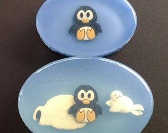 Penguin and Igloo Soap Set