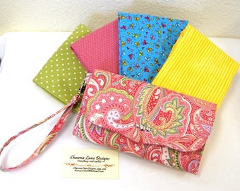 women's smart phone wallet, custom handmade wallet in your choice of fabric, women's gift, wristlet, cell phone accessory