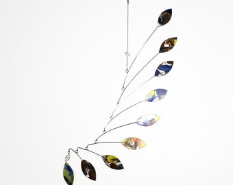 Mobile Sculpture, READY TO SHIP, Leaf Wave Mobile, Art Mobile, Home Decor, Kinetic Art, Baby Shower Gift, Office Art, Calder Inspired,