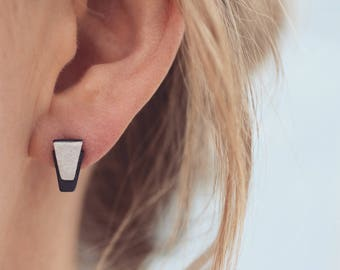 Geometric earrings | Art Deco earrings | Stud earrings | Black earring | Modern earrings for women | Art Deco wedding | Bridesmaid earrings