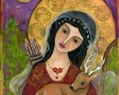 Greek Goddess - Artemis - Goddess of Nature - Goddess Artemis - unique gifts - handmade - wall art decor - wall art