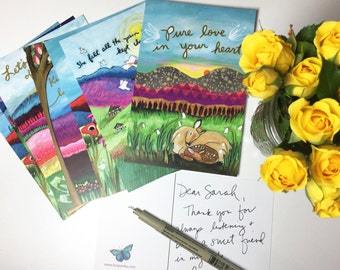 Postcard Pack of 10 : Gratitude Grows- Size 4x6