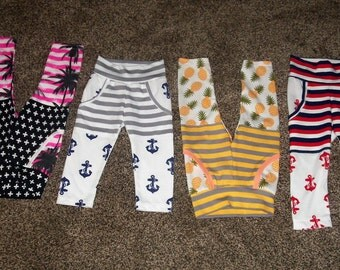 Baby/Toddler Pants//Big Pockets//Variety of Colors//Variety of Designs